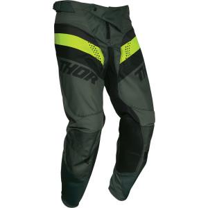 Pantaloni Thor Pulse Racer Army Green/Acid