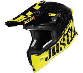 Casca JUST1 J12 PRO Racer Fluo Yellow-Carbon