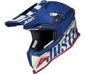 Casca JUST1 J12 PRO Racer White-Blue