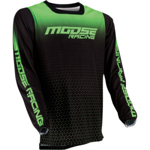 Tricou Moose Racing M1 Black/Green/Lime