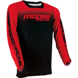 Tricou Moose Racing M1 Black/Red