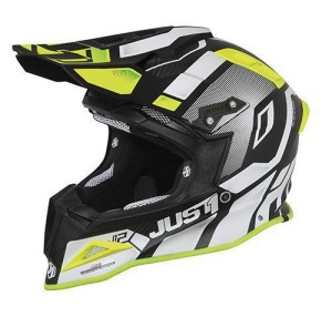 Casca JUST1 J12 PRO Vector White-Yellow Fluor-Carbon