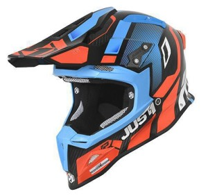 Casca JUST1 J12 PRO Vector Orange-Blue Carbon