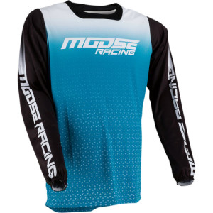 Tricou Moose Racing M1 Aqua/Black/Blue