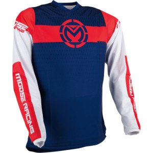 Tricou Moose Racing Qualifier Blue/Red/White