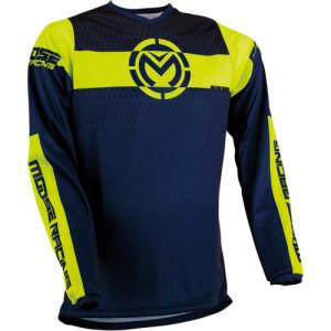Tricou Moose Racing Qualifier Blue/Dark Blue/Fluorescent Yellow/Navy/Yellow