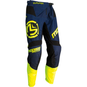 Pantaloni Moose Racing Qualifier Pants Blue/Dark Blue/Fluorescent Yellow/Navy/Yellow