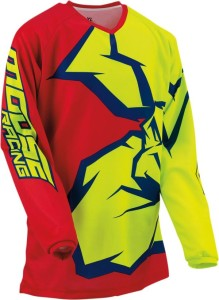 Tricou Moose Racing Qualifier™ Blue/Red/Yellow