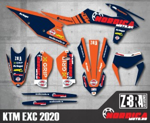 Kit stickere KTM 20-21 Nordicamoto