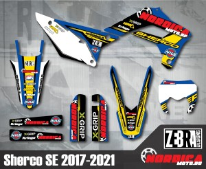 Kit stickere Sherco 17-21 Nordicamoto