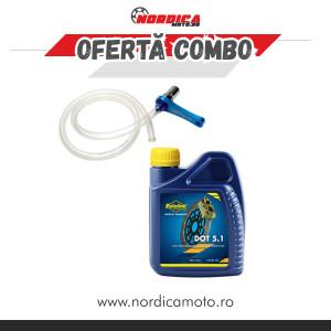 Pachet lichid de frana Putoline DOT 5.1 500ml + Aerisitor frana Motion Pro