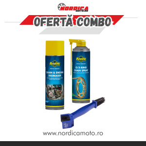 Pachet Putoline CHAIN & ENGINE DEGREASER + Putoline DX 11 CHAINSPRAY 500ml + Perie curatat lant Motion Pro