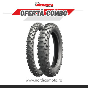 Pachet anvelopa spate Michelin 140/80-18 Enduro Xtreme + anvelopa fata Michelin Enduro Medium 90/100-21