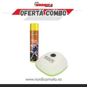 Pachet Spray filtru aer Putoline Action Fluid 600ml + Filtru Aer KTM Hiflo Filtro