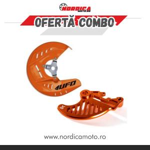 Pachet Protectie disc frana spate KTM X-Grip Portocaliu + Protectie disc frana fata KTM 15-20 Ufo Portocaliu