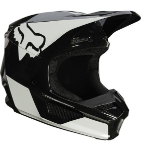Casca Fox V1 Plaic Black/White