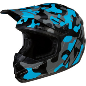 Casca copii Z1R Rise Camo Black/Blue/Gray