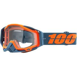 Ochelari 100% Racecraft Navy/Orange Lentila Clara