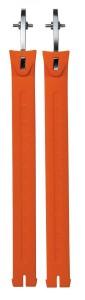 Sidi (Nr. 45) Curele Extra lungi portocaliu Fluo