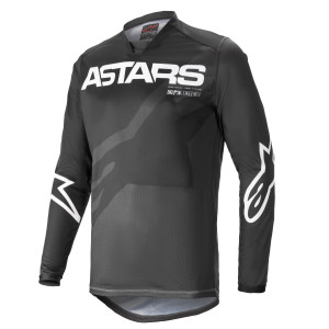 Tricou Alpinestars Racer Braap Black Anthracite/White