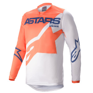 Tricou Alpinestars Racer Braap Orange/Light Gray/Dark Blue