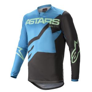 Tricou Alpinestars Racer Braap Ocean Blue/Mint