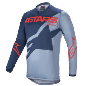 Tricou Alpinestars Racer Braap Dark Blue/Powder Blue/Bright Red