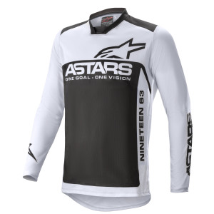 Tricou Alpinestars Racer Supermatic Light Gray/Black