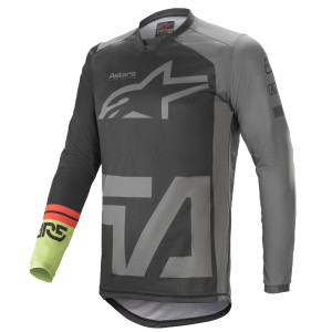 Tricou Alpinestars Racer Compass Black/Dark Gray/Green Fluo