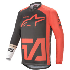 Tricou Alpinestars Racer Compass Anthracite/Red Fluo/ White