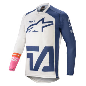 Tricou Alpinestars Racer Compass White/Navy/Pink Fluo