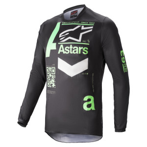 Tricou Alpinestars Fluid Chaser Black/Mint