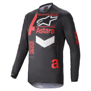 Tricou Alpinestars Fluid Chaser Black/Bright Red