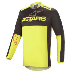 Tricou Alpinestars Fluid Tripple Black/Yellow Fluo/Bright Red