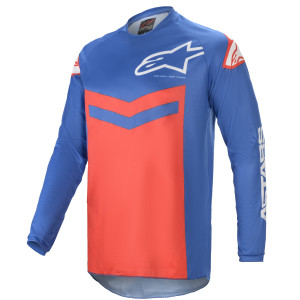 Tricou Alpinestars Fluid Speed Blue/Bright Red