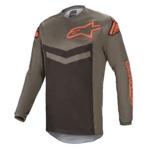 Tricou Alpinestars Fluid Speed Dark Gray/Orange