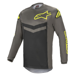 Tricou Alpinestars Fluid Speed Dark Gray/Yellow Fluo